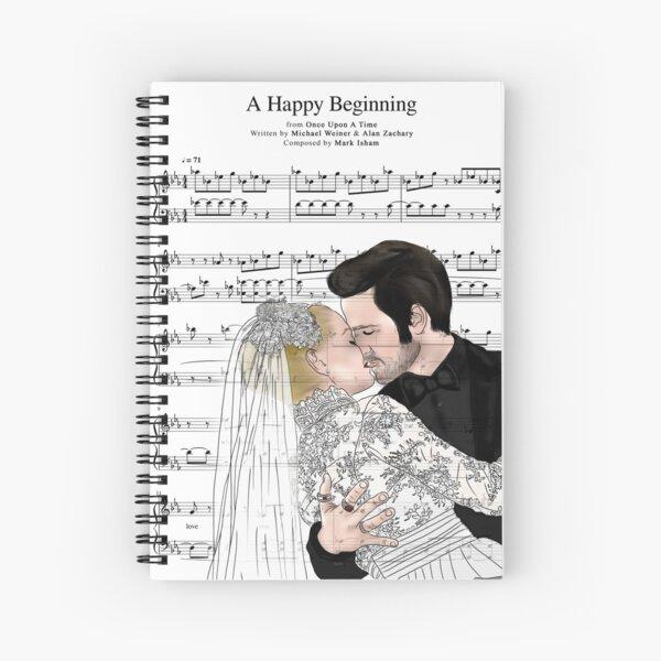 Captain Swan Music Sheet Spiral Notebook
