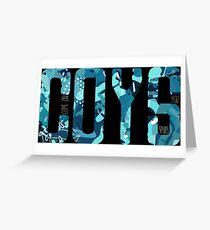 COYS * Blue Camo Edition Greeting Card
