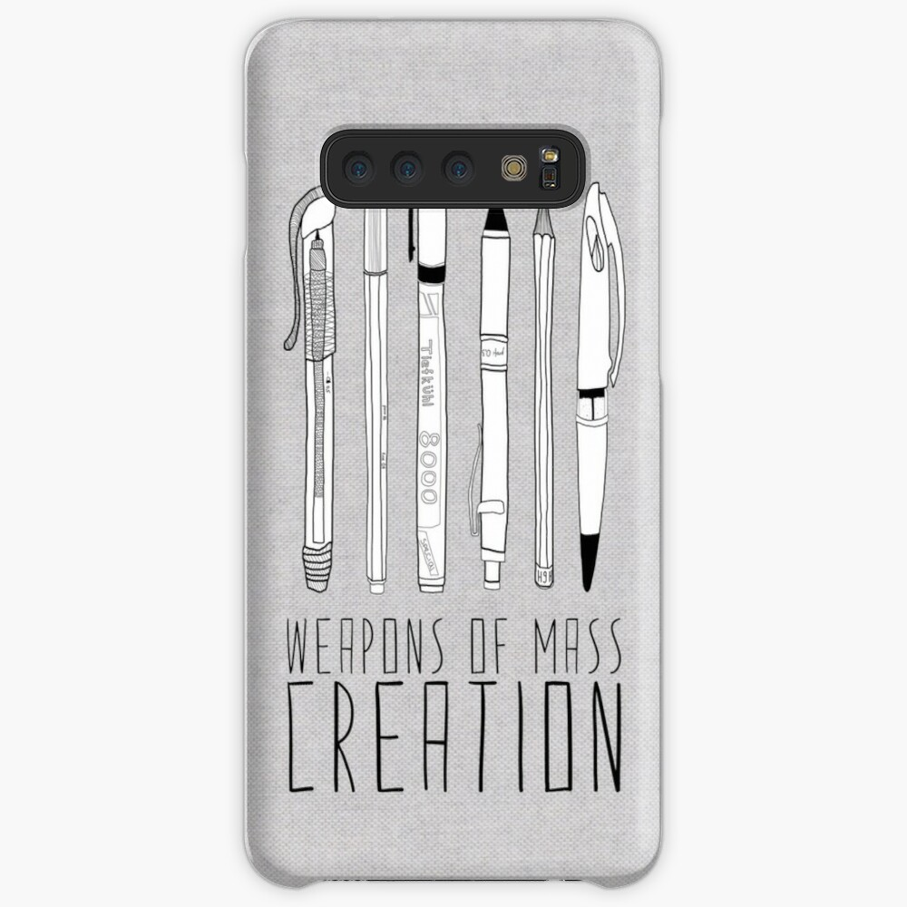 Weapons Of Mass Creation (on grey) Case & Skin for Samsung Galaxy