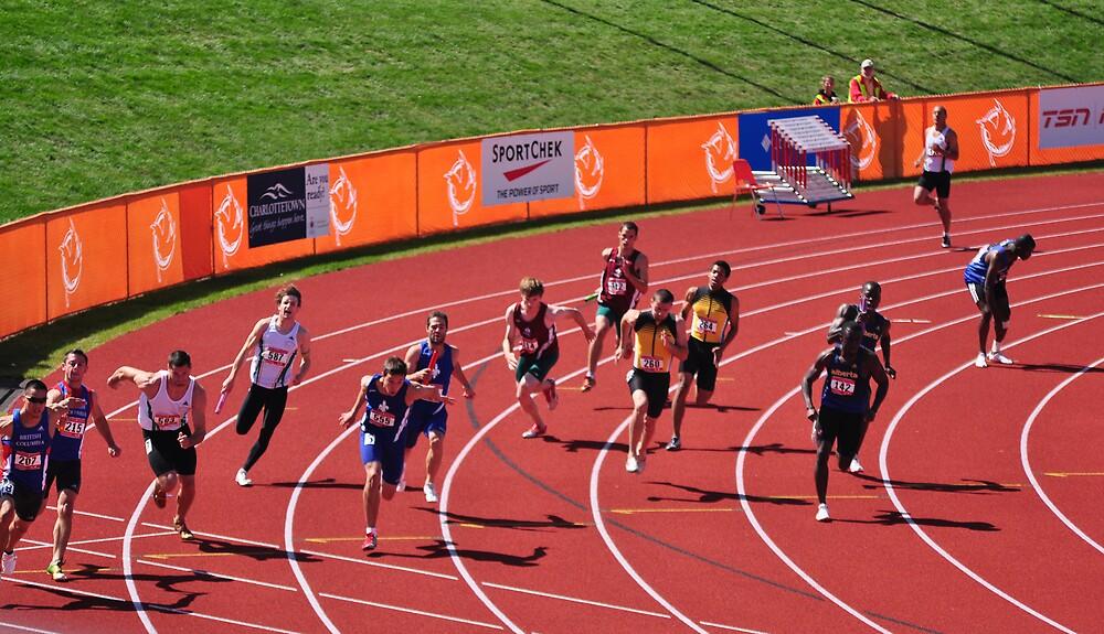 4x100m Hand Off  by Craig Blanchard