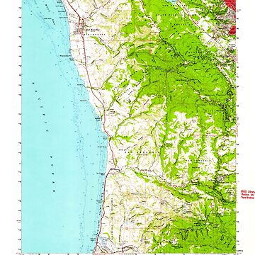 USGS TOPO Map California CA Half Moon Bay 297626 1961 62500 geo by wetdryvac