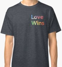 Small Logo Love Wins Slogan Pride 2018 Classic T-Shirt