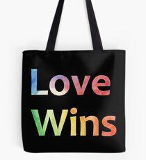 Small Logo Love Wins Slogan Pride 2018 Tote Bag