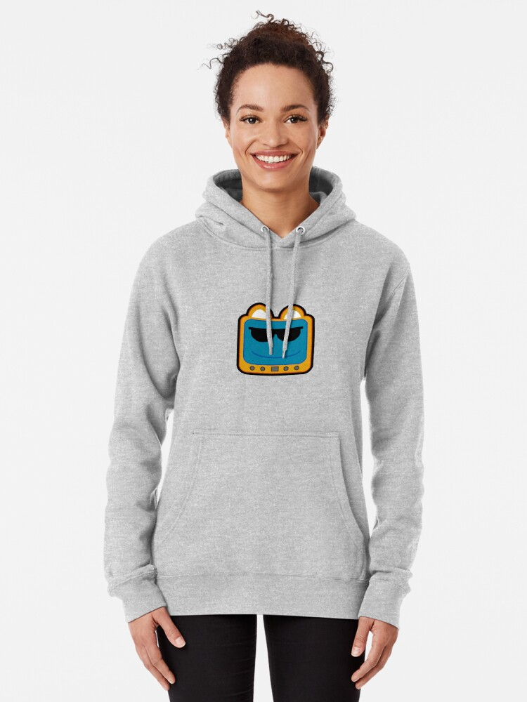 Alternate view of Television Kitty Cool Glasses 1 Pullover Hoodie
