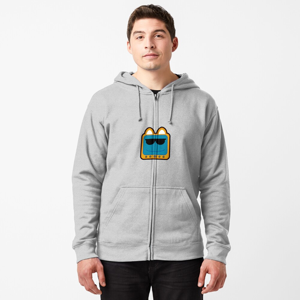Television Kitty Cool Glasses 1 Zipped Hoodie