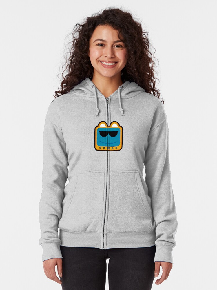 Alternate view of Television Kitty Cool Glasses 1 Zipped Hoodie
