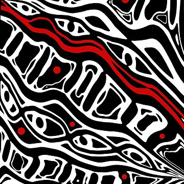 Red, black and white pattern by ValentinaHramov