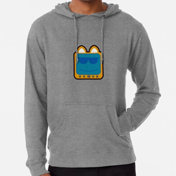 Television Kitty Cool Glasses 2 Lightweight Hoodie