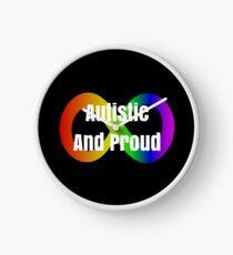 Autistic And Proud Neurodiversity Slogan  Clock
