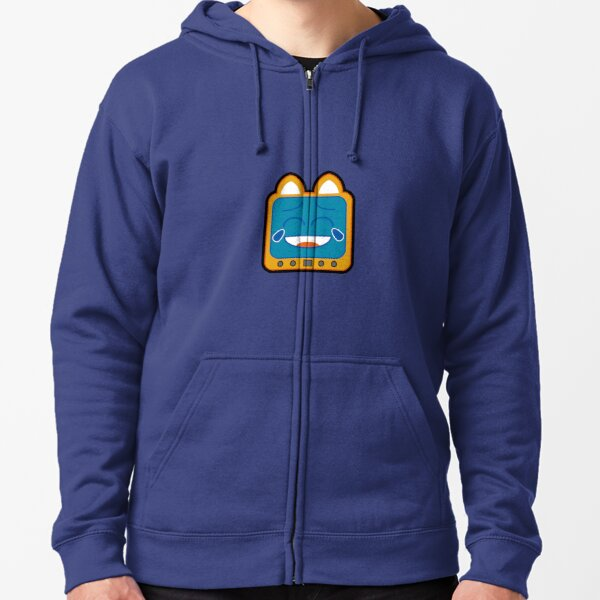 Television Kitty Laughing Zipped Hoodie