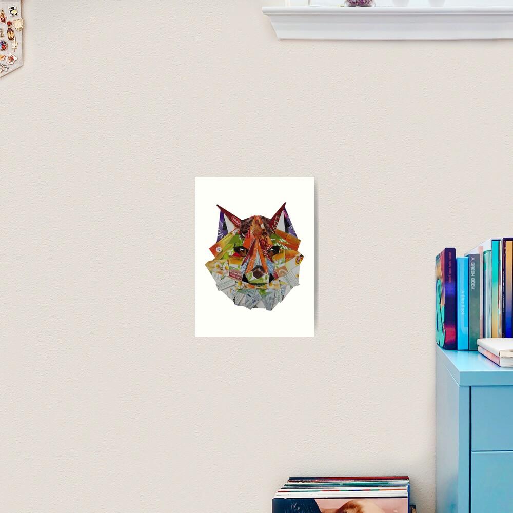 Low poly fox Art Print