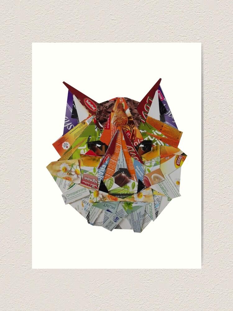 Alternate view of Low poly fox Art Print