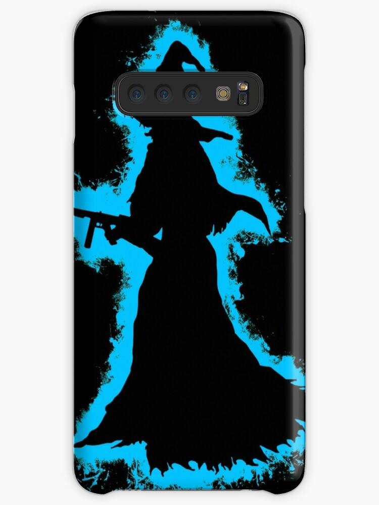 Evil halloween lightblue and black silhouette by VincentW91