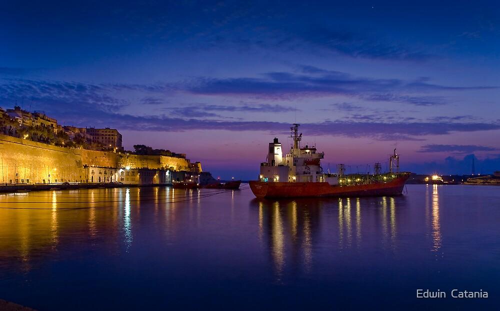 AT BAY ---- Valletta Harbour Malta by Edwin  Catania
