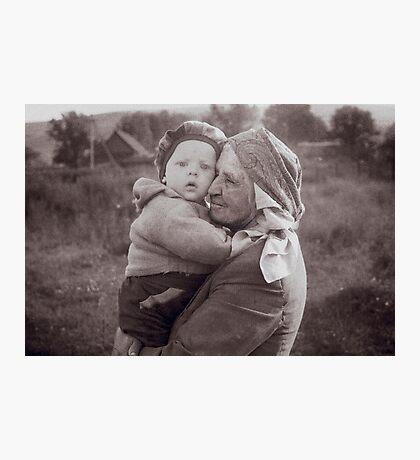 Grandmother and child Photographic Print