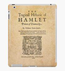 Shakespeare, Hamlet 1603 iPad Case/Skin