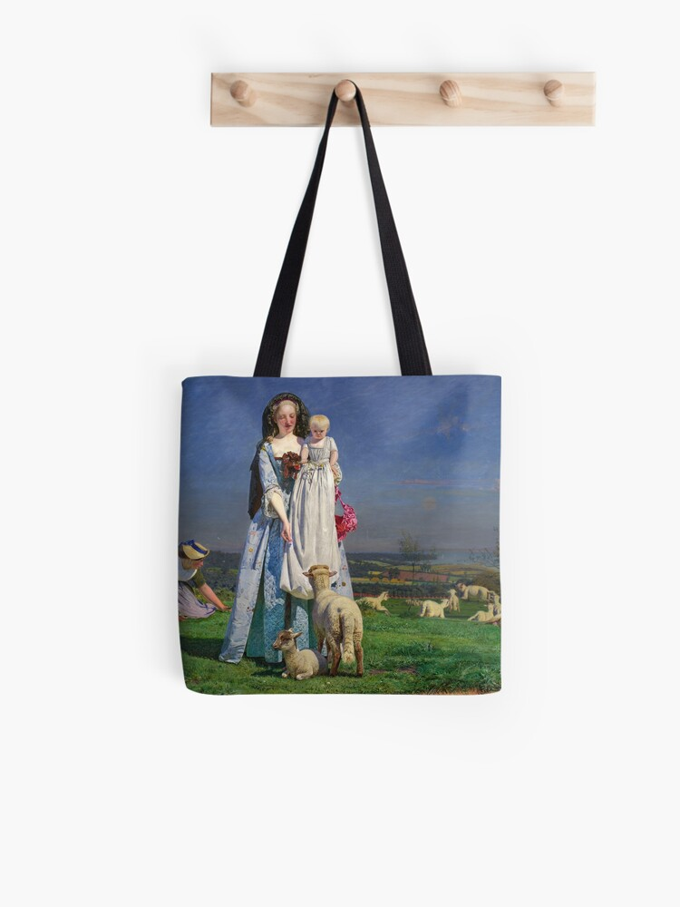 Pretty Baa Lambs Ford Madox Brown Tote Bag By Themasters Redbubble
