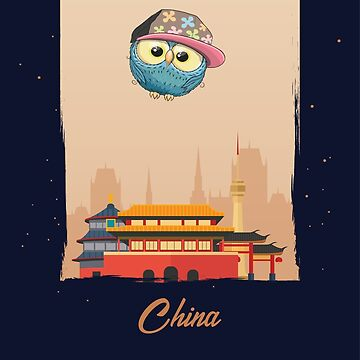 Hip Hop Owl in China / Chinese Scenery / Time to Travel With an Owl by ProjectX23