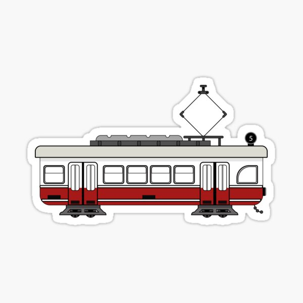 Vienna Tram Sticker