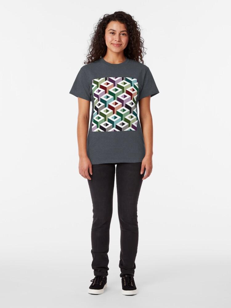 Alternate view of Geometric Pattern: Tube: Colours Classic T-Shirt