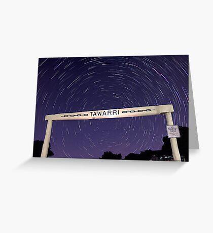 Star Trails At Tawarri  Greeting Card