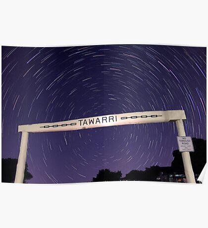 Star Trails At Tawarri  Poster