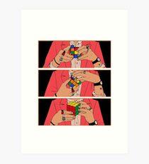 Harry Styles - Rubik's cube Art Print