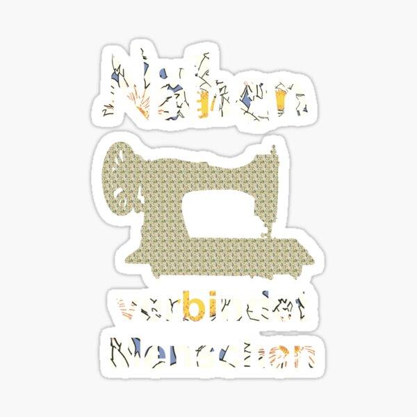 Nähen verbindet Menschen Sticker