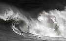 Surfer At Waimea Bay 2011 by Alex Preiss