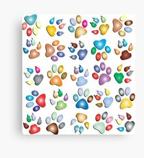 Dog & Cat Paw Prints Graphic Designed Gift Products  Canvas Print