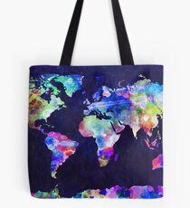Weltkarte Urban Aquarell Tote Bag