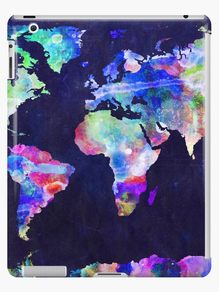 Urban Watercolor World Map.World Map Urban Watercolor Ipad Cases Skins By Michael Tompsett