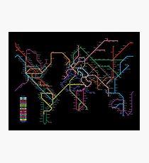Welt-Metro-Karte Fotodruck