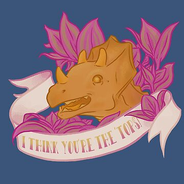 Punny Triceratops Loves You by phantomssiren