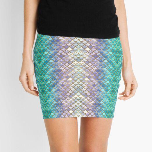Pretty Mermaid Scales 38 Mini Skirt