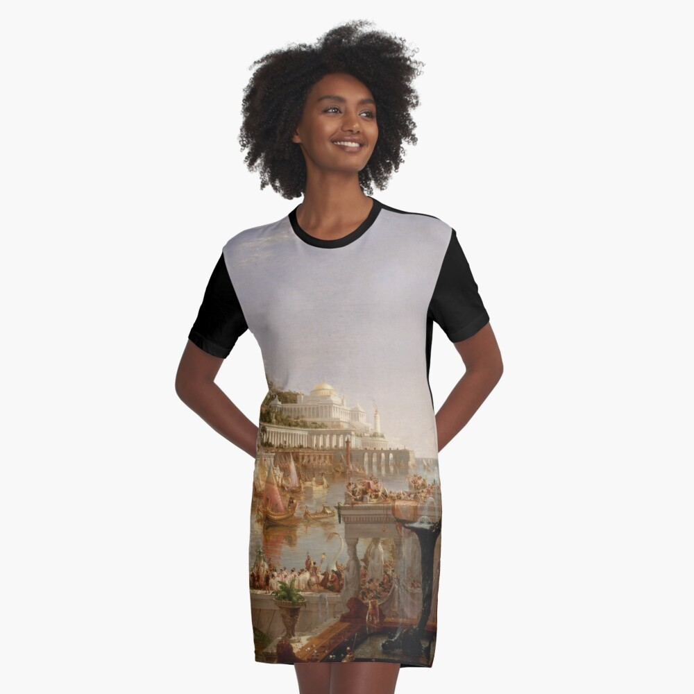 The Consummation of Empire - Thomas Cole Graphic T-Shirt Dress