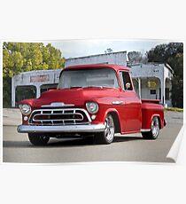 1957 Chevrolet Custom Stepside Pickup Poster