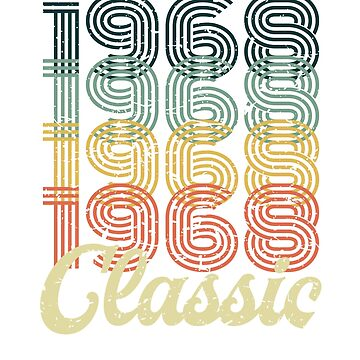 Vintage 1968 T-Shirt Retro Classic 60's 50 birthday gift by KNEI