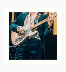 Harry Styles guitar concert Art Print