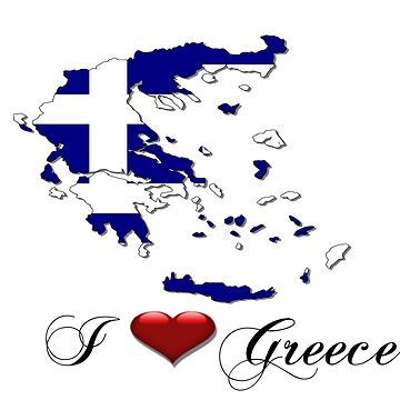 I love Greece by CarolineArts