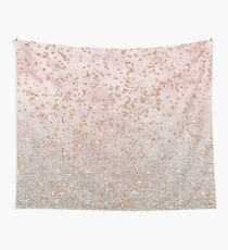 Mixed rose gold glitter gradients Wall Tapestry