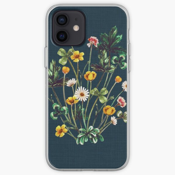 MeadowSweet Autumn on Rustic Blue iPhone Soft Case