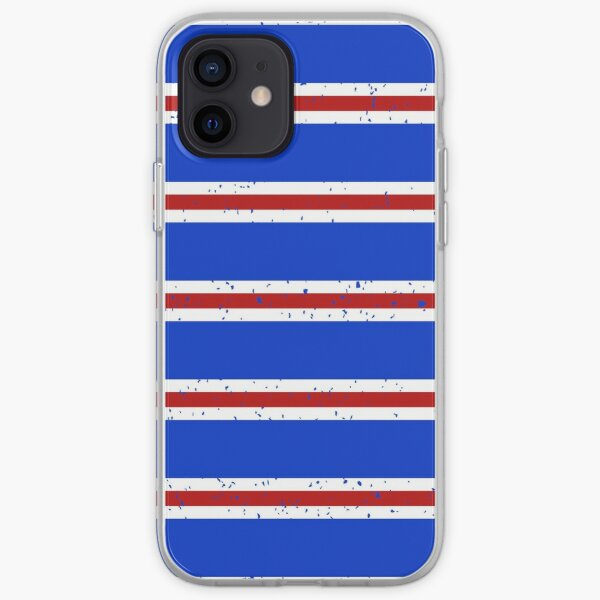 Rangers Red White Blue Bar Scarf Design iPhone Soft Case