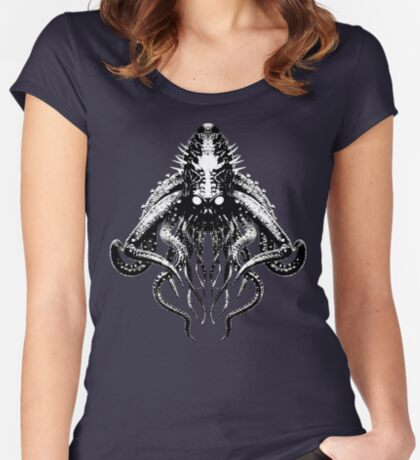 Cthulhu High Contrast Fitted Scoop T-Shirt
