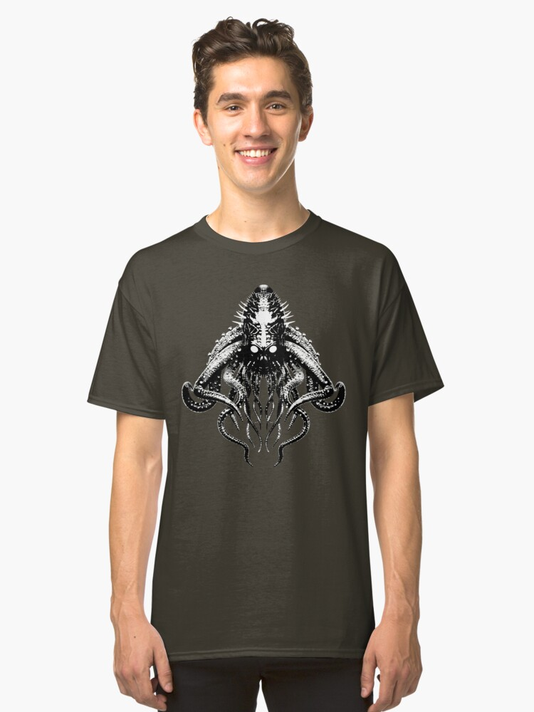 Cthulhu High Contrast Classic T-Shirt Front