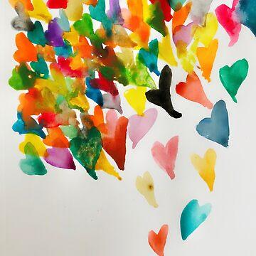 Raining Hearts by sspellmancann
