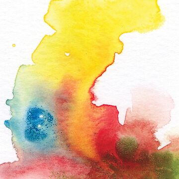 abstract watercolor painting by kimtangdesign