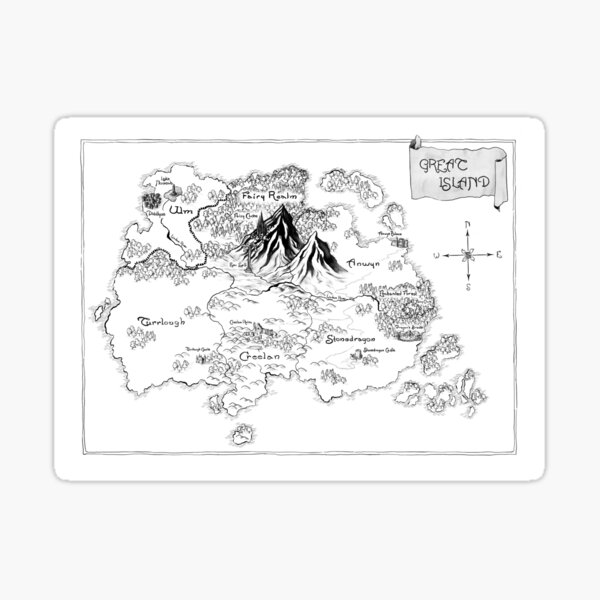 """Official illustrated Map from """"Future Queen"""" Sticker"""