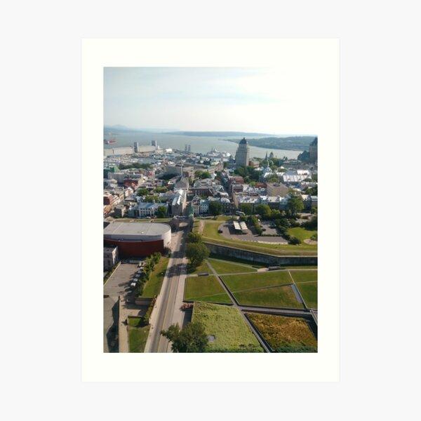 Quebec City, #QuebecCity, #Quebec, #City, #Canada, #buildings, #streets, #places, #views, #nature, #people, #tourists, #pedestrians, #architecture, #flowers Art Print