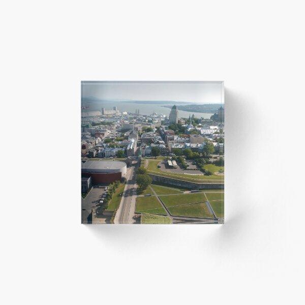 Quebec City, #QuebecCity, #Quebec, #City, #Canada, #buildings, #streets, #places, #views, #nature, #people, #tourists, #pedestrians, #architecture, #flowers Acrylic Block